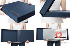 box portfolio--leather inlay on cloth