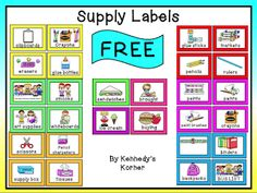 "FREE LESSON - ""Back to School ~  Supply Labels"" - Go to The Best of Teacher Entrepreneurs for this and hundreds of free lessons.  Pre-Kindergarten - 6th Grade   #FreeLesson  #BackToSchool  #TeachersPayTeachers   #TPT  http://www.thebestofteacherentrepreneurs.net/2013/08/free-misc-lesson-back-to-school-supply.html"