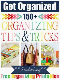 Diy Projects: 150+ Organizing Tips & Tricks home organizing diy, diy ideas, 150, organizing tips, hous, diy organization, diy home sweet home, trick, diy projects