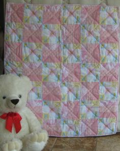 Sew Soft and Snuggly Pink a unique handmade baby quilt