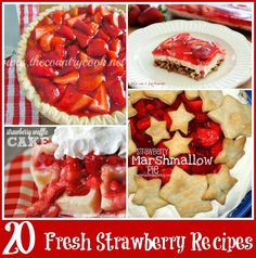 The Country Cook: 20 Fresh Strawberry Recipes