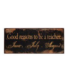 Take a look at this 'Teacher' Wall Art by VIP International on #zulily today!