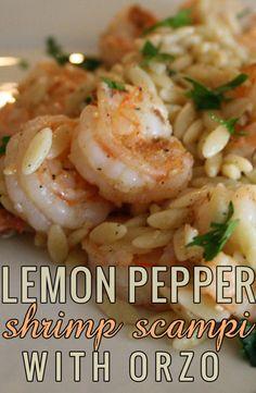 Lemon Pepper Shrimp Scampi with Orzo