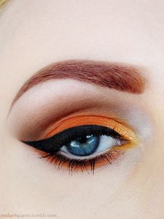 Orange eyeshadow #vibrant #smokey #bold #eye #makeup #eyes