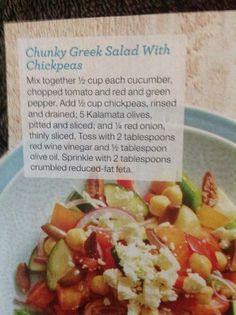Chunky Greek Salad with Chickpeas