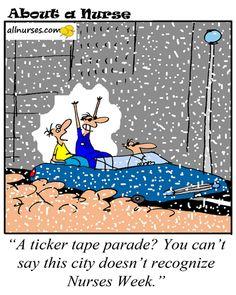 Cartoon: A ticker tape parade for Nurses Week