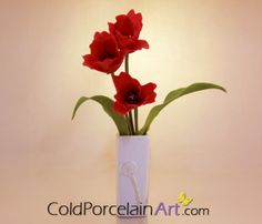 Tulips  Daffodils Centerpieces by ColdPorcelainArt https://www.etsy.com/listing/128104864/tulips-daffodils-centerpieces-cold #tulips, #coldporcelain, #flowers