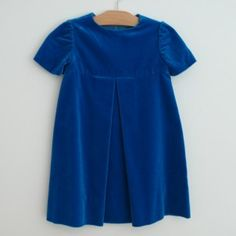 Belle Heir - blue velvet dress c. 1960