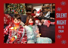 Unique and Fun Family Christmas Card! Holiday Card!