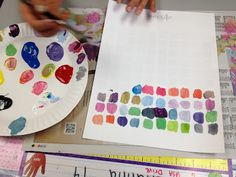 kids mix 100 colors. I like this 'challenge' so many kids mix the colours all into one lifeless muddy grey.