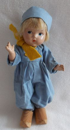 Vogue Toddles Dutch Boy All Composition Near MINT #DollswithClothingAccessories