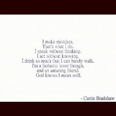 from carrie bradshaw