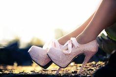 Sparkling heels...