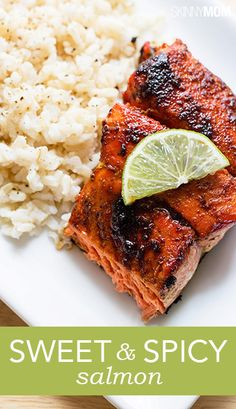 Sweet and spicy salmon dish is healthy and delicious!