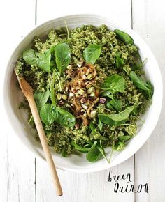 Green Quinoa adapted from Ottolenghi's Plenty.
