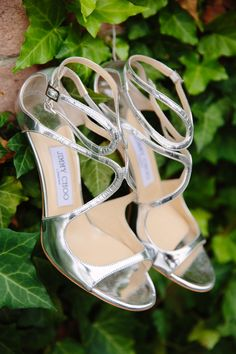 #JimmyChoo #Shoes | See the Wedding on SMP - http://www.StyleMePretty.com/2014/01/09/colin-cowie-wedding-in-buttermilk-falls/ Tory Williams Photography