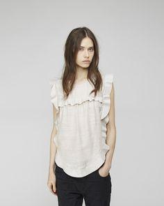 ruffl top, blous, shirt