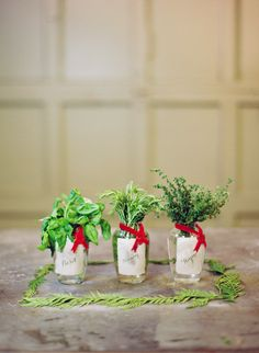 10 Creative Hostess Gift Ideas: Herb Vases