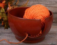 Rust Yarn Bowl Autum