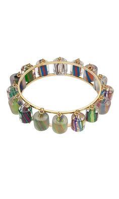 Bracelet with Cane Glass Beads by Tom Triplett.