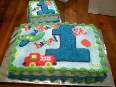 baby boy's first birthday cake