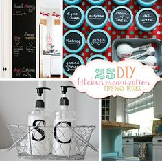 25 Awesome DIY Kitchen Organization Tips & Tricks