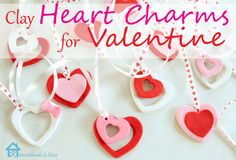 Easy to make Clay Heart Charms for Valentine