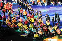 Team MEXICO enters the arena for the 2012 Paralympic Opening Ceremonies