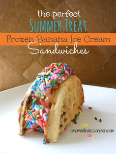 How to make frozen banana ice cream (and then make it into an ice cream sandwich!)