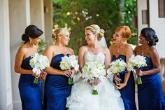 Blue and White Wedding Ideas - sophisticated sapphire and white southern California