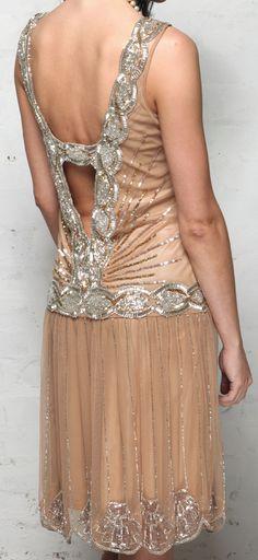 Beaded 20's flapper dress <3