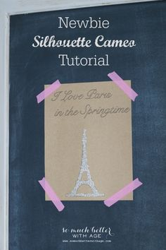 I Love Paris in the Springtime/Newbie Silhouette tutorial via somuchbetterwithage.com #silhouette #paris #spring #craft #art