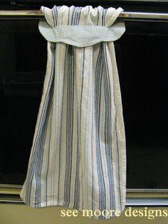 Dish Towels - Hot Flash'n Craft'n: Easy Hanging Towel Tutorial