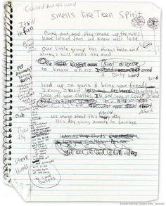 Kurt Cobain's journals