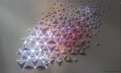 Origami Meets Projection Mapping projection paper origami geometric