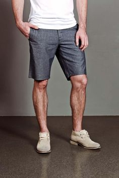 The Perfect Lightweight Chambray Shorts