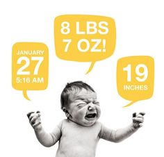 Hilarious birth announcement. I love The Image is Found  (via @Amber Gatej)