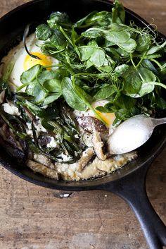 baked eggs, la buena, spring egg, food, spring bake, egg recip, nicol franzen, buena vida, bake egg