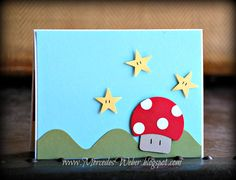 Creations by Mercedes: Yoshi Punch Art! (inside) ~ never thought about how easy it'd be to recreate a Mario scene!!