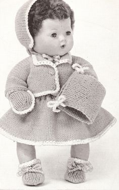 vintag doll, vintage knitting, knitting patterns, doll pattern, vintag knit, home art, baby dolls, baby doll clothes, vintage homes