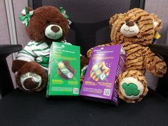 Check out the cute Thin Mint and Caramel deLite cookie bears at Build-a-Bear!