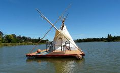 Floating Teepee.   Some assembly required.