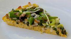 Spring Veggie Polenta Pizza - Lean.Green.Kitchen