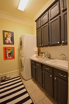 This Laundry Room was completely transformed.   That sink and countertop are must-haves.