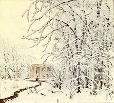 T.F.Simon. Beautiful Winter (2) Winter in the Park, 1926