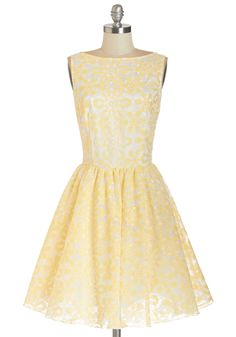 Good Day, Sunshine Dress. Todays weather is perfect for the nuptials in the park youre attending. #white #prom #modcloth