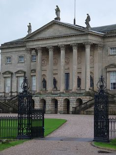 Palladian portico of Kedleston Hall