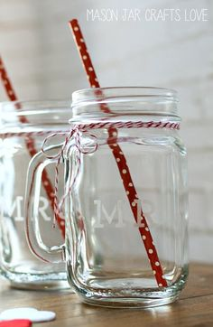 Mr & Mrs. Mason Jars