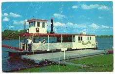 Hiawatha Belle Boat, Mississippi River, Winona, Minnesota postcard www.visitwinona.com