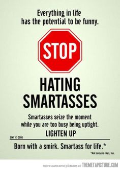 Been feeling like a smartass extremist lately...I'm ok with it.